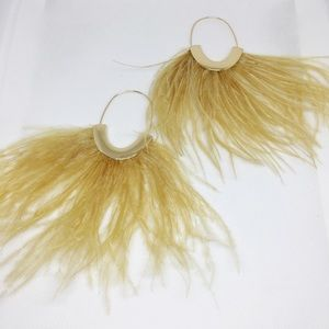 NWT Anthropologie feather earrings